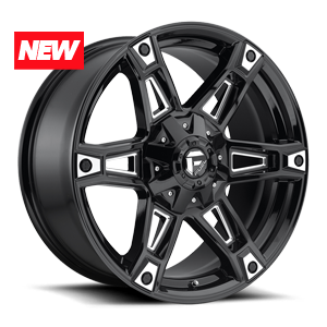 DAKAR 6LUG 20x9 ET20 GLOSS BLK W MILL N MACHINE A1 300 3172x 6469