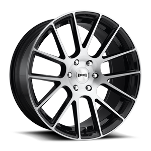 LUXE 22x9.5 GLOSS BLK W BRUSHED A1 3001