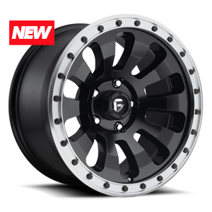 TACTIC 6LUG 17x9 MATTE BLK W MACHINED LIP A1 300 2902x 4772