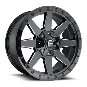WILDCAT 20X9 GLOSS BLK AND MILLED BLK RING A1 3001