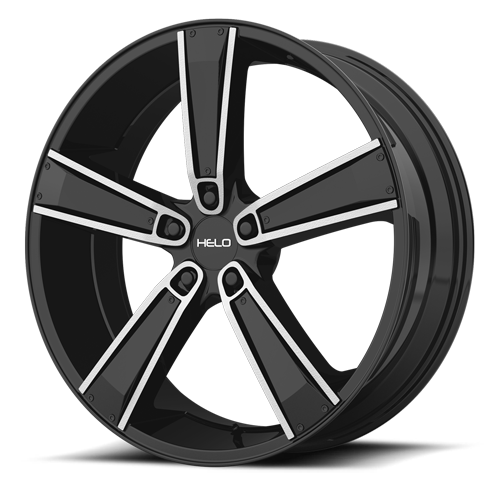 Wheel Pros HE899 Black Machined wheel 5lug 500