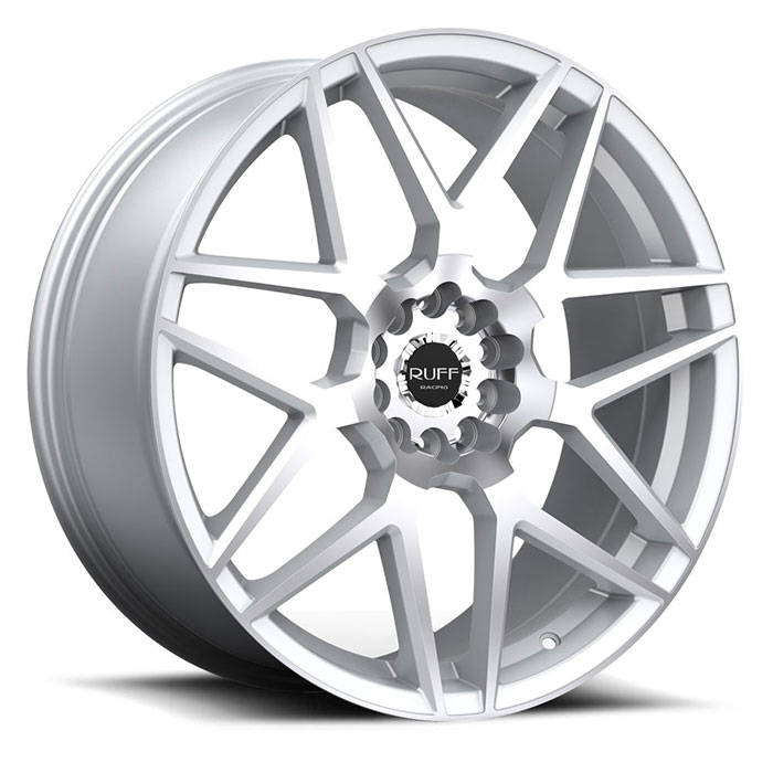 racing wheels ruff r351 5 lugs hyper silver machined face std 700